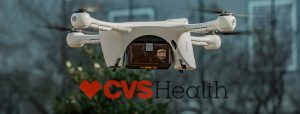 UPS Drone flying a CVS package